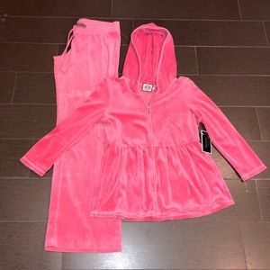 NWT Juicy Couture Velour Tracksuit